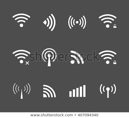 Jel ikon rádióhullám állapot illusztráció wifi Stock fotó © Blue_daemon
