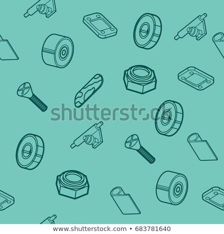 Skateboard spare parts pattern Stock photo © netkov1