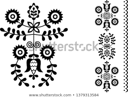 Stock photo: Folk embroidery from West Slovakia