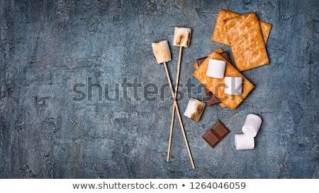 Hozzávalók pirít főzés házi készítésű tűz csokoládé Stock fotó © furmanphoto
