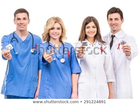 orvos · sztetoszkóp · engedély · fehér · iroda · kórház - stock fotó © vladacanon