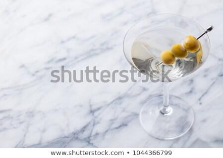 clásico · cóctel · salado · beber - foto stock © dla4