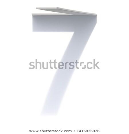 вертикальный падение тень числа семь 3D Сток-фото © djmilic