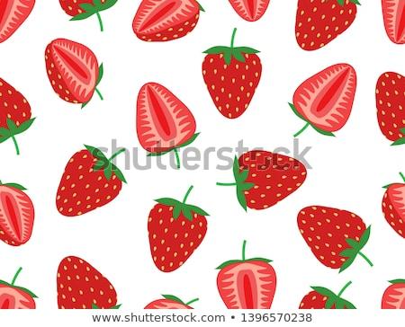 свежие · клубника · фрукты · шаблон · розовый · красный - Сток-фото © netkov1