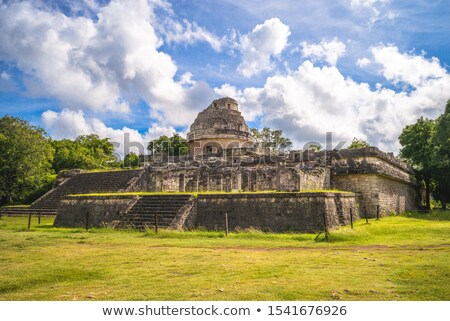 Observatory, Chichen Itza Stock photo © jsnover