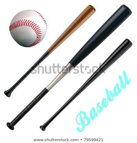 jóvenes · empresario · bate · de · béisbol · aislado · blanco · oficina - foto stock © elnur
