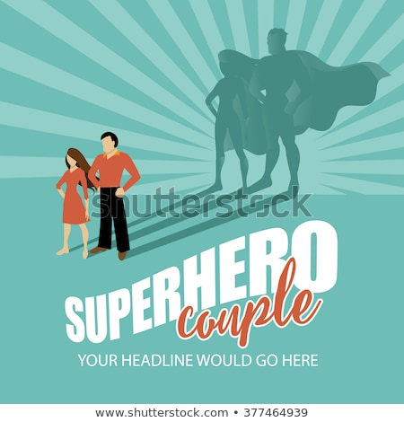 super hero couple   woman and man stock photo © marish