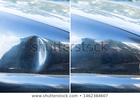 Car dent repair before and after Stock photo © AndreyPopov
