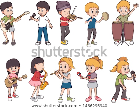 Instrument de musique Pack enfants chanter danse illustration Photo stock © bluering