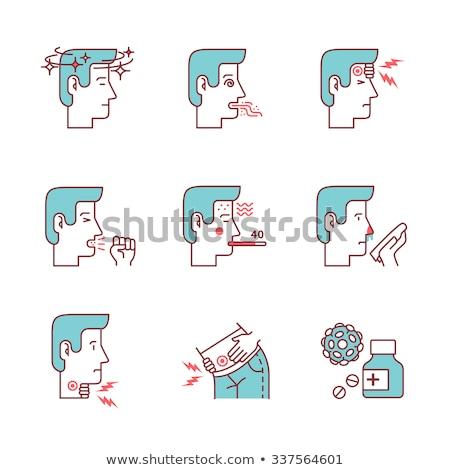 Insalubre bactérias vetor fino linha ícone Foto stock © pikepicture