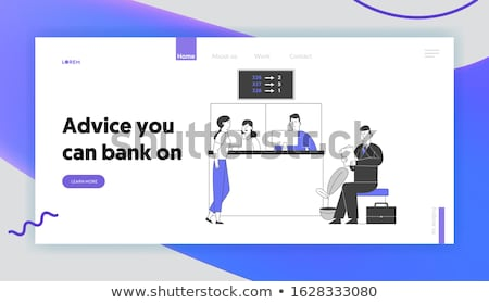 Electronic queuing system concept landing page Stock photo © RAStudio