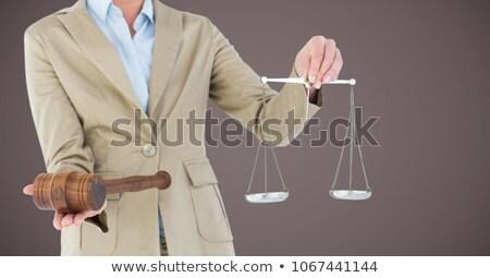 juge · verdict · image · papier · homme · bois - photo stock © wavebreak_media