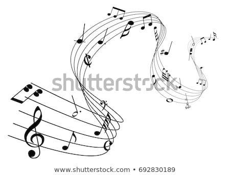 elegant musical notes music chord background design Stock photo © SArts