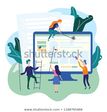 Bug fixing and quality control vector illustration Stock photo © RAStudio