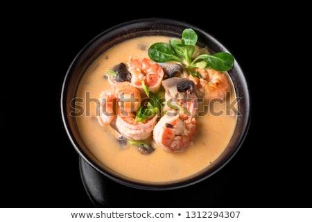 Японский суп Тофу грибы лосося фон Сток-фото © joannawnuk