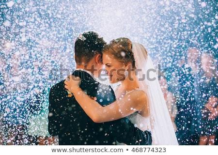 Düğün gün çift gelenekler yeni evliler düğün töreni Stok fotoğraf © robuart