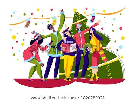 énekel család előad karácsony emberek karácsony Stock fotó © robuart