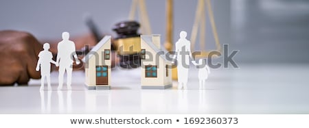Close-up Of Mallet Showing Separation Of Family And House Stock photo © AndreyPopov