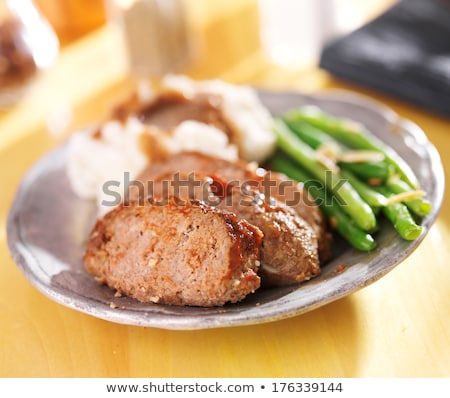 Meatloaf with green beans Stock photo © Alex9500