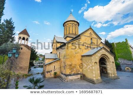 Cattedrale Georgia ortodossa costruzione nube architettura Foto d'archivio © borisb17