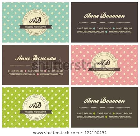 Modern pink business card template Stock photo © ShustrikS