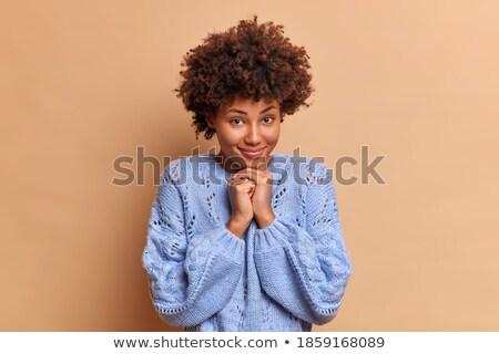 Positivo mulher tenro sorrir cara Foto stock © vkstudio