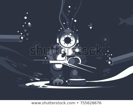 Diver нижний трубы человека инструментом Сток-фото © jossdiim