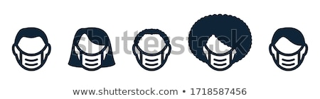 masked man requirements icon vector outline illustration Stock photo © pikepicture