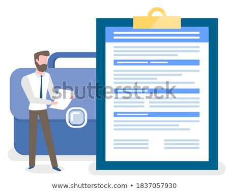 Persoon stand taken merkt groot Stockfoto © robuart
