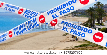 Beach closed caused by COVID-19. Spain Stock photo © amok