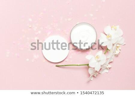 Luxus arckrém hidratáló bőr rózsaszín virág kozmetikai Stock fotó © Anneleven