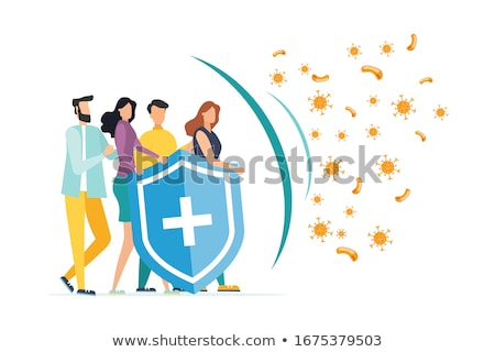 medical healthcare system protection shield background design Stock photo © SArts