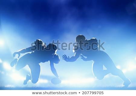 American Football Player with Ball Gridiron Game Stock photo © robuart