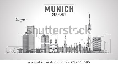 抽象的な ミュンヘン スカイライン 色 建物 ストックフォト © ShustrikS
