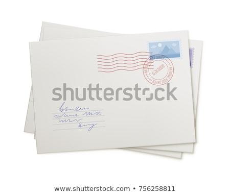 Küld levél boríték bélyeg felső kilátás Stock fotó © jossdiim