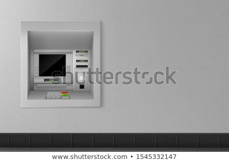 ATM machine with cash withdrawal operation Stock photo © evgeny89