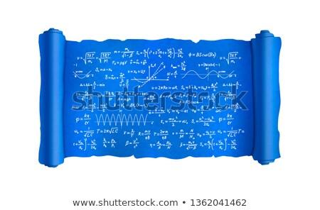 Przejdź skomplikowany naukowy wzory plan plan Zdjęcia stock © evgeny89