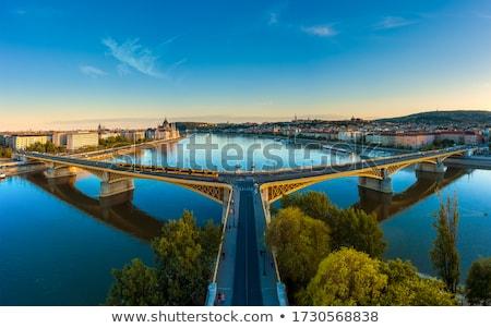 Panoramiczny widoku historyczny banku dunaj rzeki Zdjęcia stock © artjazz