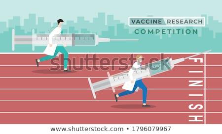 Race vaccin griep virus vaccinatie ontwikkeling Stockfoto © Lightsource