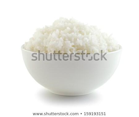 aislado · blanco · arroz · tazón · principal · alimentos - foto stock © Ansonstock