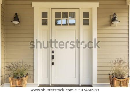 Przednie drzwi uchwyt domu domu szkła Zdjęcia stock © vlaru