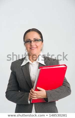 Middleaged businesswoman with red folder Stock photo © Paha_L