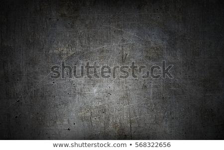 Industrial metal alumínio folha parede preto Foto stock © IMaster