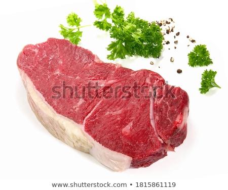 生 · ステーキ · 白 · 孤立した · 食品 · 血液 - ストックフォト © elenaphoto