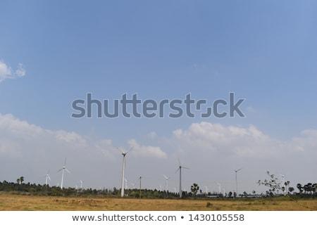 風車 青空 太陽 空 レトロな ストックフォト © skylight