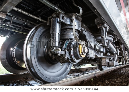Tren tekerlekler yeni makine stok Stok fotoğraf © krysek