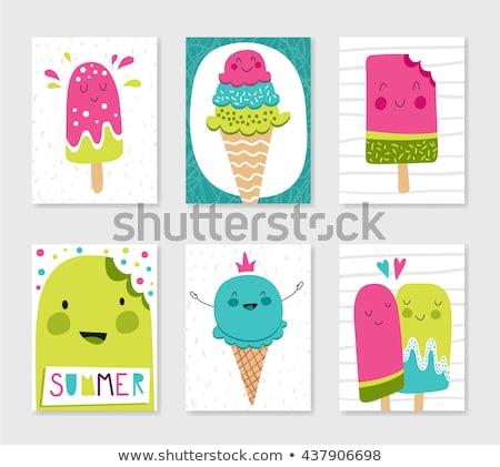набор мороженого бумаги продовольствие шоколадом Сток-фото © AnnaVolkova