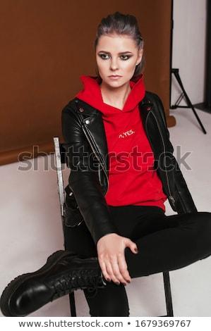 marrom · blusa · belo · alto · indiano · mulher - foto stock © dolgachov