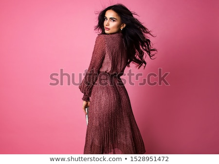 woman with pink dress stock photo © grafvision