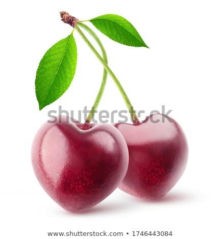 cseresznye · szív · étel · szeretet · piros · édes - stock fotó © oksix